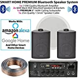 Nero da parete, sistema di altoparlanti e subwoofer/Sub – Bluetooth/wireless Home Cinema HiFi amplificatore – bar/ristorante 2.1 Surround Sound Music kit