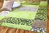 Passion Designer Teppich Grün Patchwork Karo in 4 Größen