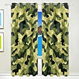 CUMIMI Fashion Design Camouflage Thermal Insulated Blackout Room Darkening Window Curtains for Bedroom - Best Reviews Guide