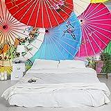 Apalis Vliestapete Chinese Parasols Fototapete Breit | Vlies Tapete Wandtapete Wandbild Foto 3D Fototapete für Schlafzimmer Wohnzimmer Küche | mehrfarbig, 94561