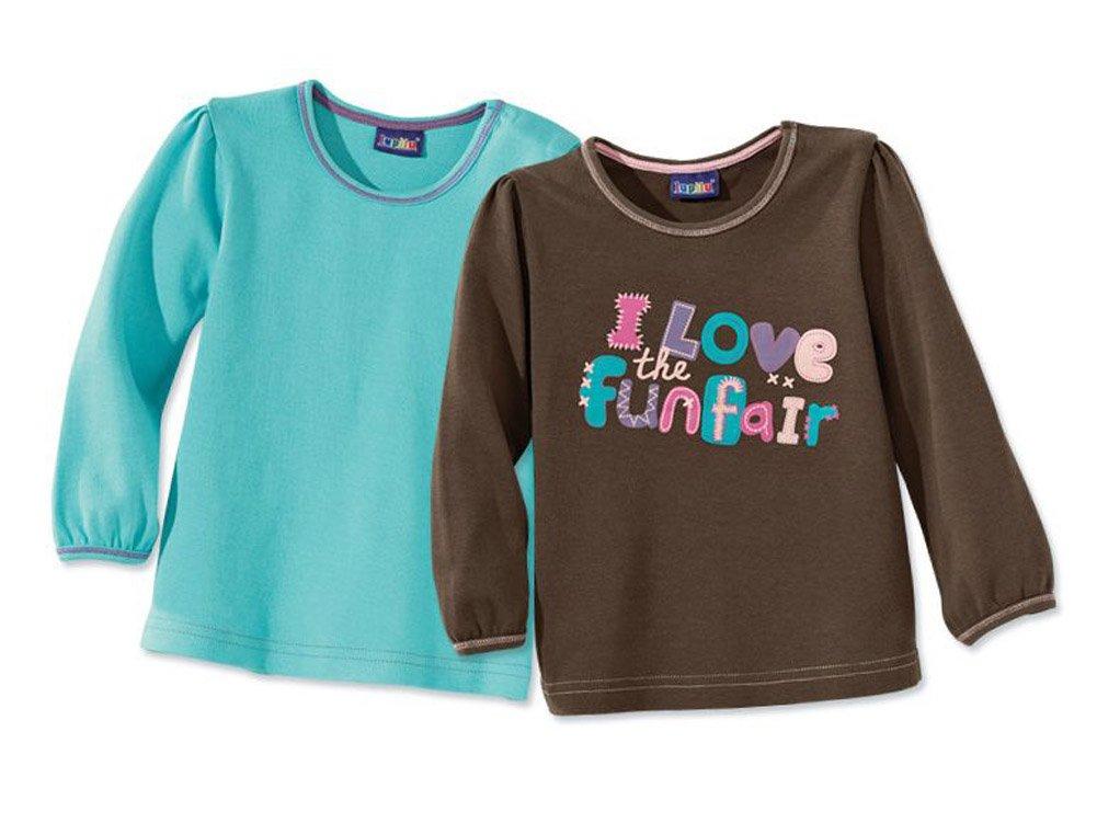 2 Baby-Langarmshirts Gr.62/68 für Mädchen Praktische Schulterknöpfung für leichtes An- und Ausziehen