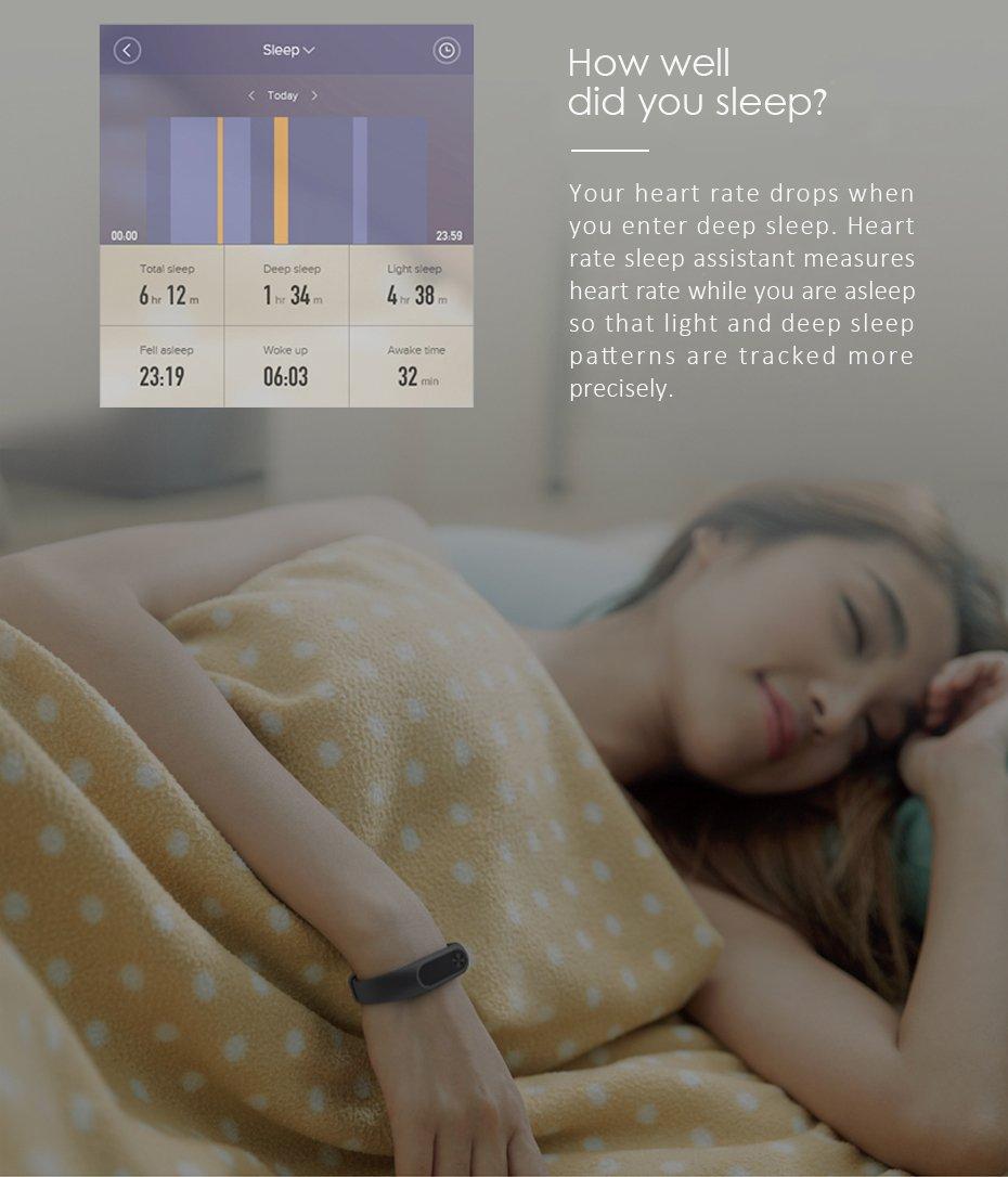 Xiaomi Mi Band 2 Pulsera rastreadora de Actividad, con Monitor de frecuencia