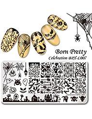 Born Pretty Nail Art Plaque de Stamping Rectangulaire Image de Halloween BPX-L007 12*6cm