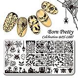 Born Pretty Nagel Schablonen Nail Art Stempel Plate Blumen BPX-L007 DIY Design