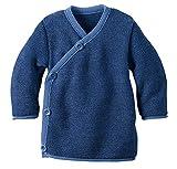 Disana Melange-Jacke aus Merino-Schurwollstrick kbT für Babys (86/92, Blau)
