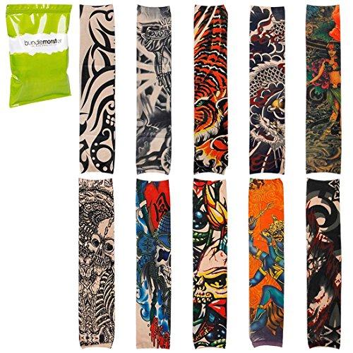bmc-cool-10pc-punk-rock-inspired-fake-temporary-tattoo-sleeves-body-art-arm-stockings-designs-dragon