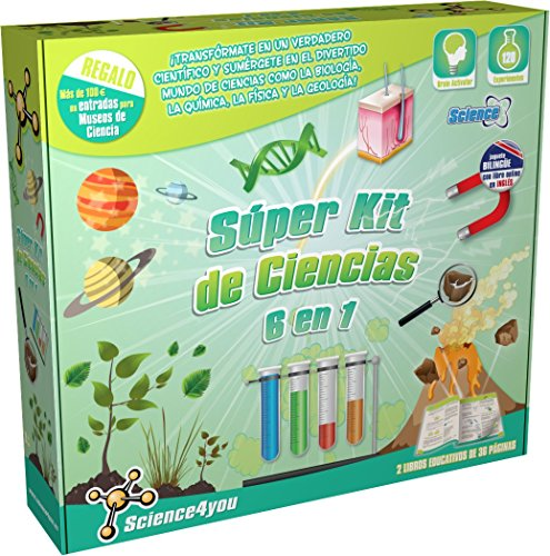 Science4you - Súper kit de ciencias 6 en 1
