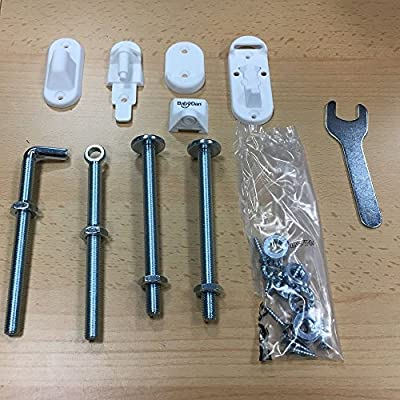 BabyDan Range of Stair Gates Spare Fitting Kits (BabyDan No Trip Wood Fittings Kit)