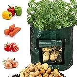 Wawer DIY Kartoffel Wachsen Pflanzer PE Tuch Pflanzbehälter Tasche Verdicken Garten Topf