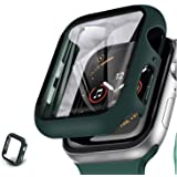 Apple Watch 44 mm Ekran Koruyucu 360 Derece Kasa Koruyucu Apple Watch 6 SE 5 4 3 2 Seri Uyumlu YEŞİL KOYU