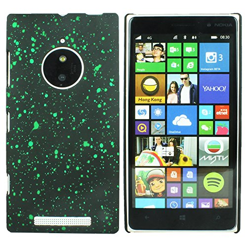 Heartly Night Sky Glitter Star 3D Printed Design Retro Color Armor Hard Bumper Back Case Cover For Nokia Lumia 830 RM-984 - Nature Green  available at amazon for Rs.110