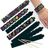 Kratzbild-Armbänder- Regenbogenfarbe - scratch art für Kinder zum Basteln für Kratzkunstbilder - toll als Geschenk - 12 Stück -