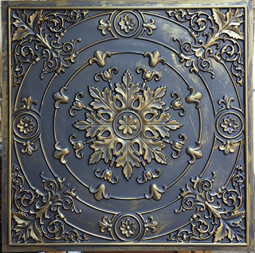 pl18-faux-paint-3d-ceiling-tiles-ancient-gold-embossing-cafe-pub-shop-art-decoration-wall-panels-10p