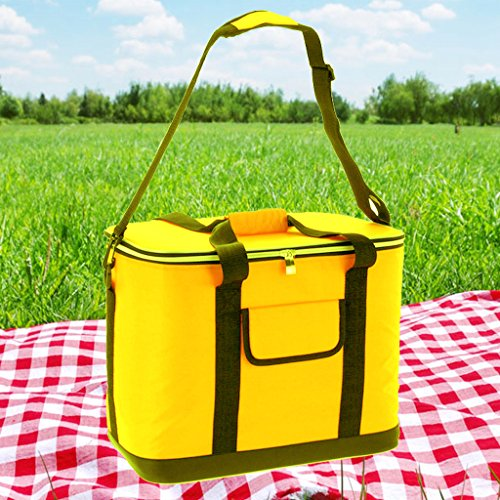 yellow-extra-large-30-litre-insulated-summer-beach-cooler-cool-bag-picnic-sun-festival