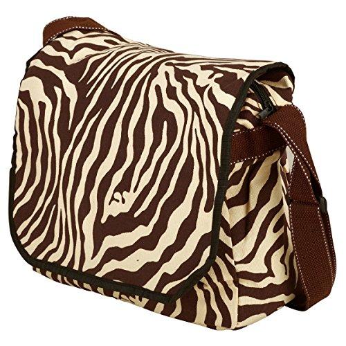 Schulter Zebra (Zebra Pop Art Umhängetaschen Schulter Baumwolle Unisign Messenger Bag)