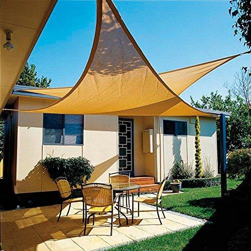 Papillon 8091181 Voile d'ombrage Triangulaire pour Jardin 5 x 5 x 5 m Beige