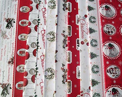 20 fogli di carta da regalo natalizia tradizionale