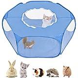 Nasjac Área de Juegos para Animales pequeños, Tienda de Mascotas Transparente Transpirable con Cubierta Superior, Apertura au