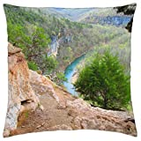 Buffalo River from The Goat Trail - Throw Pillow Cover Case (18 x 18)
