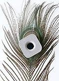 anaan geometrischer Zahnbürstenhalter/Stiftehalter aus Beton Design Badaccessoires ca. 4x4x3cm (Aschgrau)