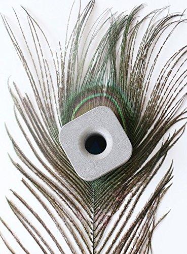 anaan Portacepillos de dientes o portalápices / Soporte de lápiz de diseño concreto Soporte para cepillos de dientes o pinceles de maquillaje Accesorio de baño (gris ceniza)