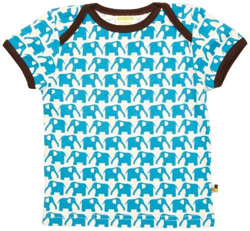 Loud + Proud Unisex - Baby T-Shirts Tierdruck 204, Türkis (Aqua ), 110/116