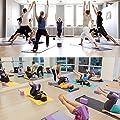 TIME4DEALS 2er-Set Yoga Blöcke/Yogablock, 1 Stück Yogagurt mit 1 Paar Yogasocken für Rücken und Blockaden Regeneration Training Dehnübungen (Lila)