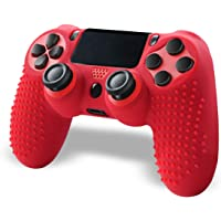 Controller PS4, PS4 Controller, Wireless Gamepad Controller per Playstation 4 con Silicone Skin Cover (Rosso)