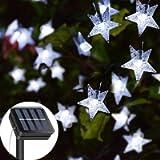 Solar String Lights Garden, 23ft 50 LED Star Fairy Lights Outdoor Solar Powered Led Star String Light Waterproof 8 Modes…