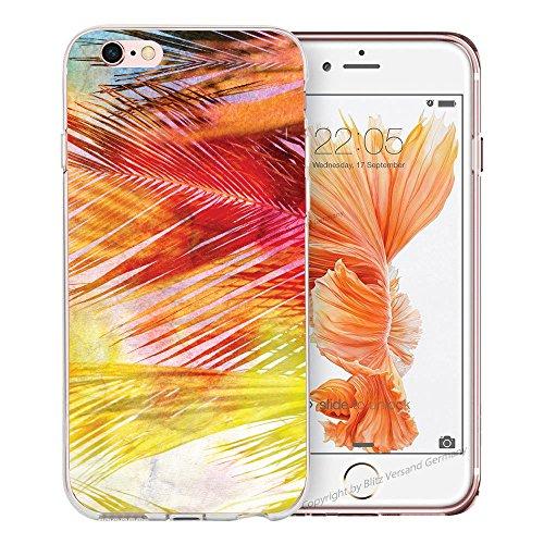 Blitz® BANANA motifs housse de protection transparent TPE caricature bande iPhone Stars & Stripes M16 iPhone 5c plumes colorées M8