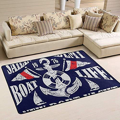 If Not Segelrevier Teppich Teppich rutschfeste Fußmatte Fußmatten Für Wohnzimmer Schlafzimmer