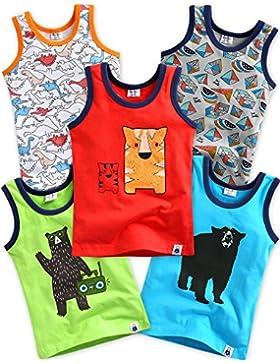 Vaenait baby 2–7años para niños, 5unidades 100% algodón Tirantes Tank Tops