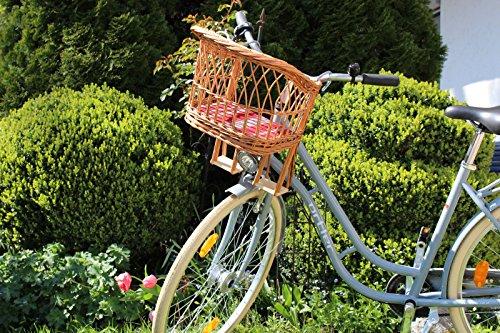 Kinderfahrradsitz Puppenfahrradkorb DDR Weide Kindersitz Fahrrad vorne Lenker Ostalgie Groß (49 x 46 x 26cm)