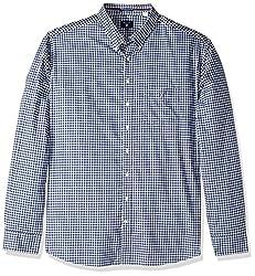 GANT Mens Classic Gingham Shirt, Persian Blue, 4XL