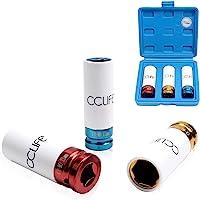 """CCLIFE 1/2"""" Chiavi a Bussola per Dadi Ruote Chiave a Bussole Impatto Macchina Esagonale 17 19 21mm"""