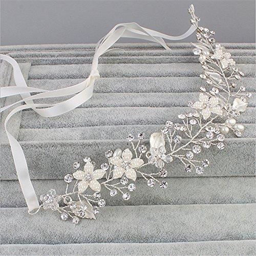 ADMKK Stilvolle und elegante Perle Diamant-Hochzeit Braut Kopfschmuck europäischen und amerikanischen Modeschmuck handgemachte Haarband ( Color : B )