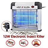 Reelva Electric Fly Killer, Insect Pest Control Bug Fly Zapper, UV Bulbs Light