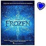 Frozen - Songbook - 11 der schönsten Songs von Robert Lopez und Kristen Anderson-Lopez - farbige Originalabbildungen aus dem Film von 2014 - mit bunter herzförmiger Notenklammer