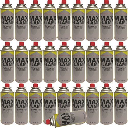 NEW 28 PC X MAX FLAME BUTANE GAS BOTTLE CANISTERS 28PC BOTTLES FOR COOKER HEATER STOVE BBQ CAMPING PACK...