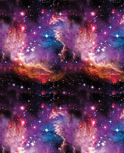 Wassertransferdruck-Folie,Hydrographic-Folie, Universum mit Sternen, 0,5 m x2 m