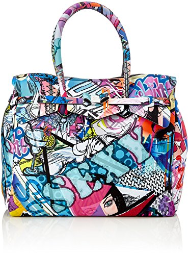 save my bag Miss 3/4, Borsa a Mano Donna, 39.5x34x19 cm (W x H x L) Multicolore (Graffiti)