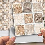 DXHH 18 STÜCKE Marmor-Mosaik-Stil Aufkleber Dekorative Aufkleber Kreative Rutschfeste Selbstklebende Wandtattoos Floor Sticke