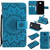 LG K5 Hülle, LG K5 Flip Hülle, Gift_Source [ Blau ]
