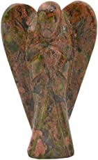 Excel Unakite Mini Pocket Gemstone Guardian Angel with Free Carry Velvet Beautiful Pouch-1 Pc