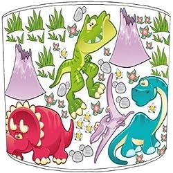 Premier Lampshades mesa pantallas de dinosaurios para niños blanco, 30,5 cm