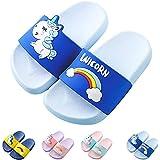 Zapatos de Ducha, Playa y Piscina Sandalias de Baño Antideslizantes Sandalias de Unicornio para Niños y Niñas