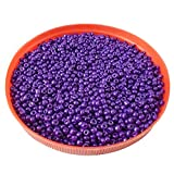 #9: eshoppee Purple family colors glass seed beads pot 100 gm (approx 2800 beads) for jewellery making and home decoration,DIY kit (purple 42 100 gm)