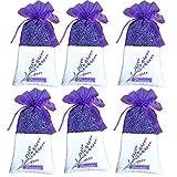 baishilin Lavendelsäckchen (120g) – Duftsäckchen mit echtem Lavendel zur Entspannung und ALS effektiver Mottenschutz (6 Beutel, luftdichter Verpackung)
