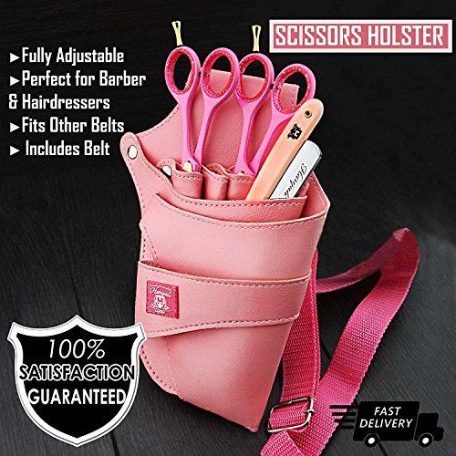 Rosa Farbe Damen Salon Training Schule und professionellen Einsatz Haarscheren-Tasche Scherentasche (Haarscheren-tasche)
