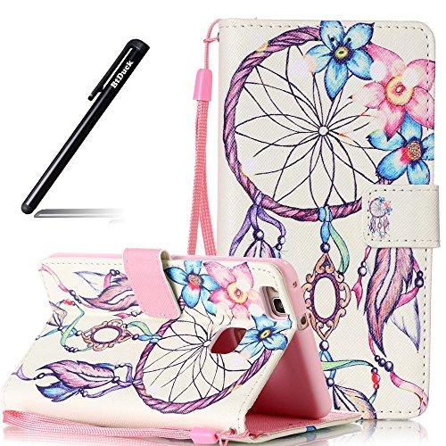 Huawei P9 Lite Tasche,BtDuck Slim Flip Cover Wallet Case Hülle für Huawei P9 Lite Tasche Geldbörse Cases Back Guard Magnetverschluss Briefcase Handyhülle Blumen Campanula -